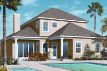 Mediterranean Exterior - Rear Elevation Plan #23-2248