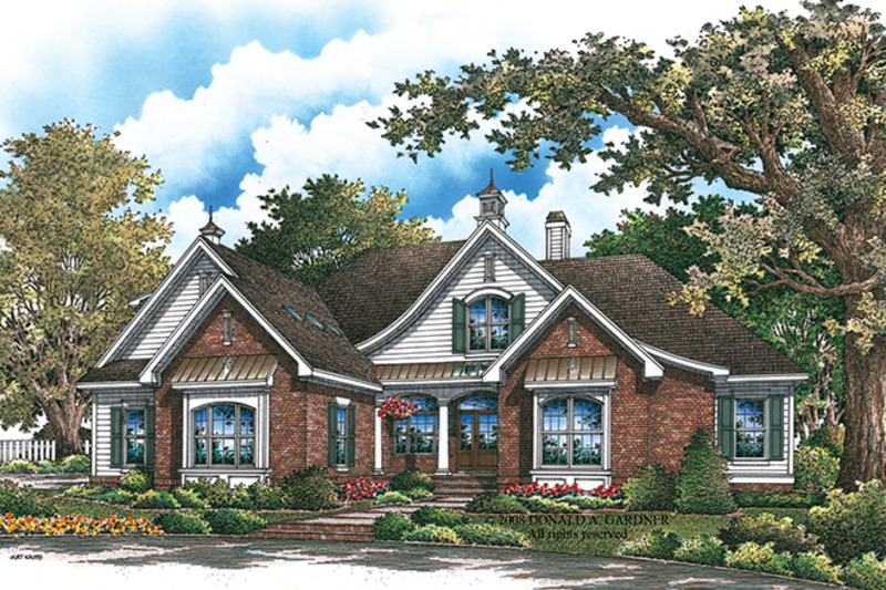 Traditional Exterior - Front Elevation Plan #929-924 - Houseplans.com
