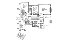 European Floor Plan - Upper Floor Plan Plan #310-1277