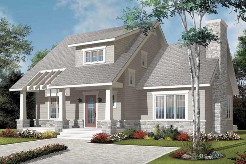 Craftsman Exterior - Front Elevation Plan #23-2371 - Houseplans.com