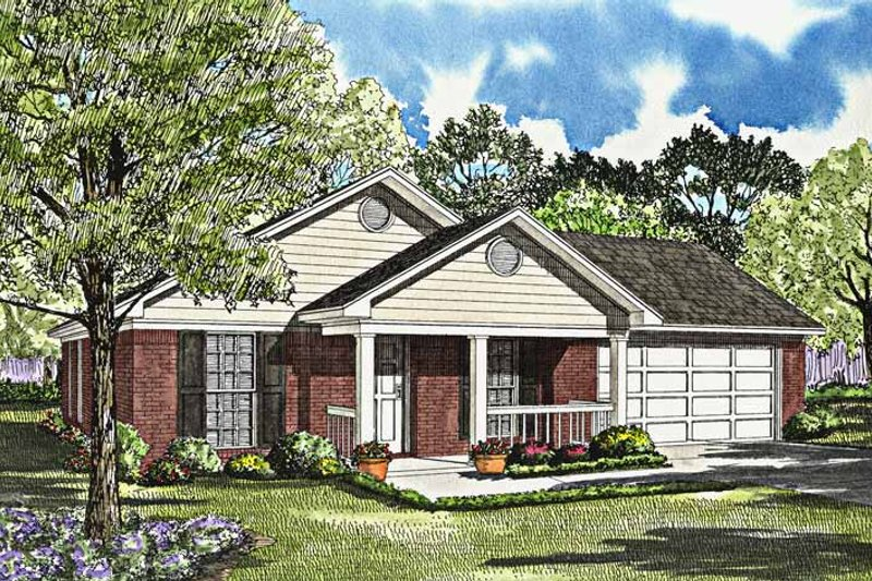Dream House Plan - Ranch Exterior - Front Elevation Plan #17-3019