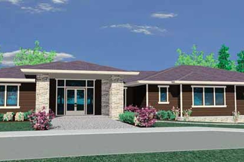 Prairie Exterior - Front Elevation Plan #509-313