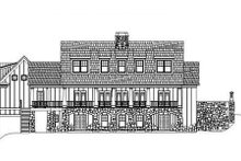 Dream House Plan - European Exterior - Rear Elevation Plan #119-336