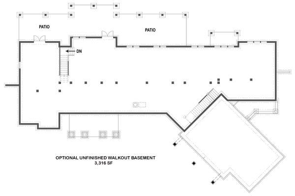Dream House Plan - Optional Unfinished Basement