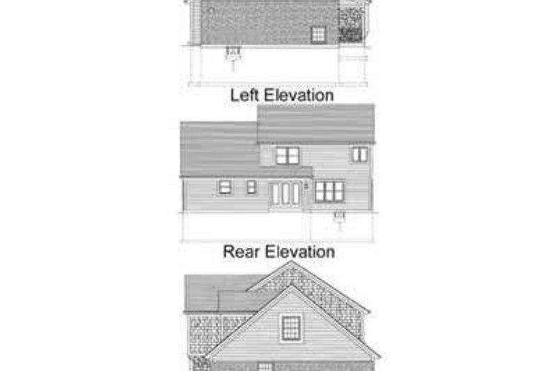 Traditional Exterior - Rear Elevation Plan #46-385 - Houseplans.com