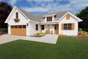 Dream House Plan - Farmhouse Exterior - Front Elevation Plan #126-179