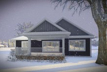 House Plan Design - Ranch Exterior - Rear Elevation Plan #70-1484