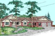Traditional Style House Plan - 4 Beds 3 Baths 2653 Sq/Ft Plan #60-239 Exterior - Front Elevation