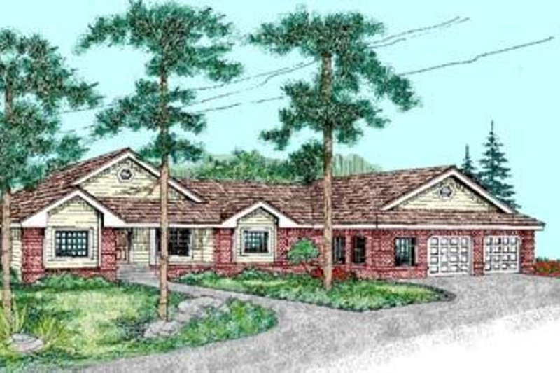 Traditional Exterior - Front Elevation Plan #60-239 - Houseplans.com