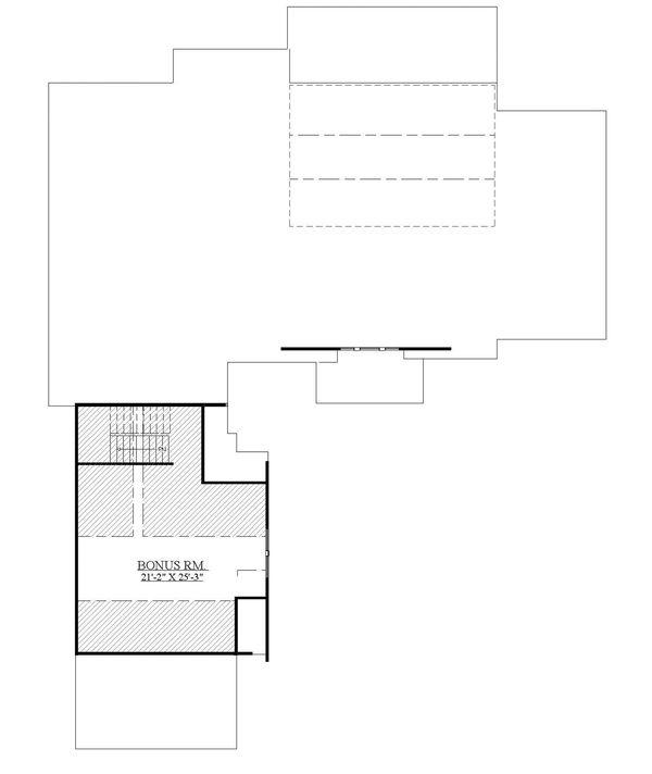 Craftsman Floor Plan - Upper Floor Plan Plan #1071-22