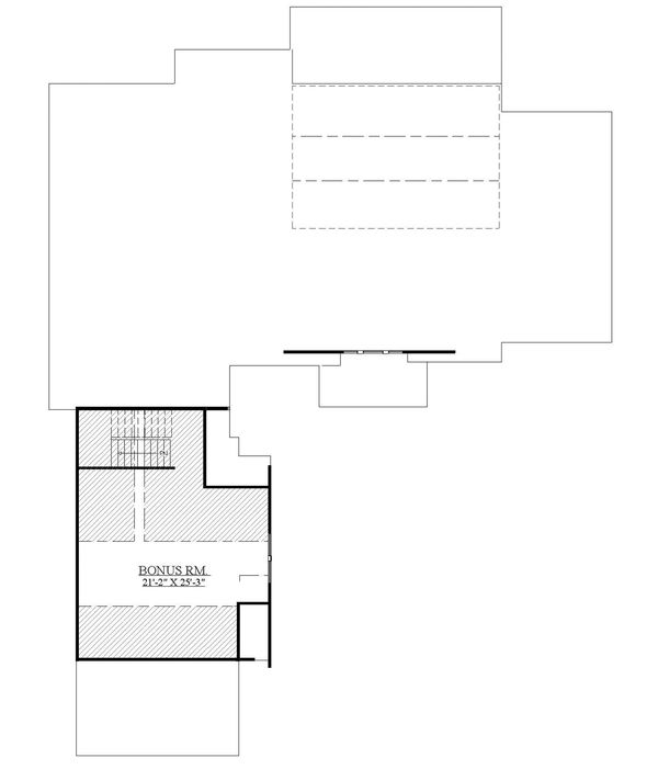 House Design - Craftsman Floor Plan - Upper Floor Plan #1071-22