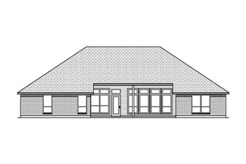 Traditional Exterior - Rear Elevation Plan #84-478 - Houseplans.com