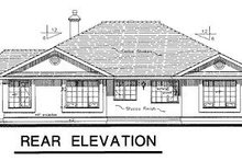Ranch Exterior - Rear Elevation Plan #18-129