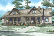 Country Style House Plan - 6 Beds 4 Baths 2758 Sq/Ft Plan #17-2563 Exterior - Front Elevation