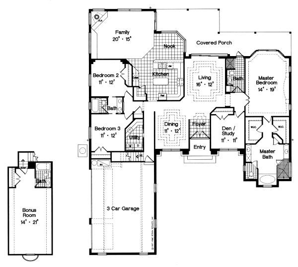 European Floor Plan - Main Floor Plan Plan #417-318