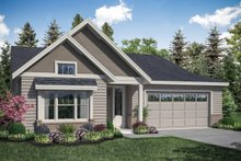 House Plan Design - Craftsman Exterior - Front Elevation Plan #124-1166