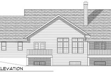 Dream House Plan - Traditional Exterior - Rear Elevation Plan #70-787