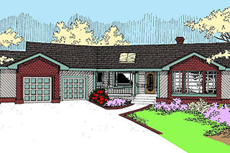 Traditional Exterior - Front Elevation Plan #60-237 - Houseplans.com