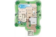 Adobe / Southwestern Floor Plan - Main Floor Plan Plan #27-458