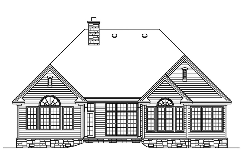 Country Exterior - Rear Elevation Plan #929-674 - Houseplans.com