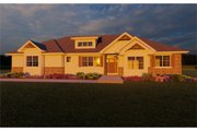Ranch Style House Plan - 3 Beds 2.5 Baths 1772 Sq/Ft Plan #126-186 Exterior - Other Elevation