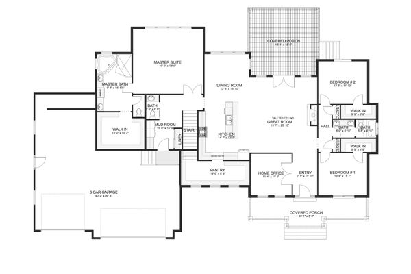 Dream House Plan - Ranch Floor Plan - Main Floor Plan #1060-99
