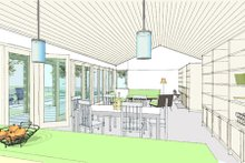 House Plan Design - Ranch Interior - Family Room Plan #445-6