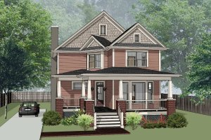 Country Exterior - Front Elevation Plan #79-262