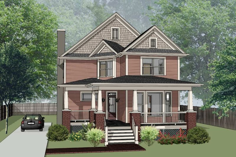 Country Style House Plan - 3 Beds 2.5 Baths 2301 Sq/Ft Plan #79-262 Exterior - Front Elevation