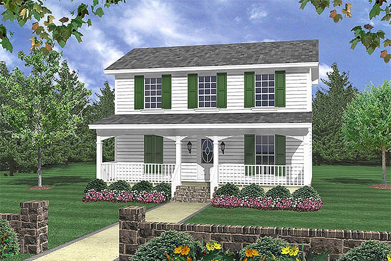 Traditional Style House Plan - 3 Beds 2 Baths 1200 Sq/Ft Plan #21-225 Exterior - Front Elevation