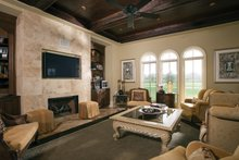 Architectural House Design - Mediterranean Interior - Family Room Plan #453-604