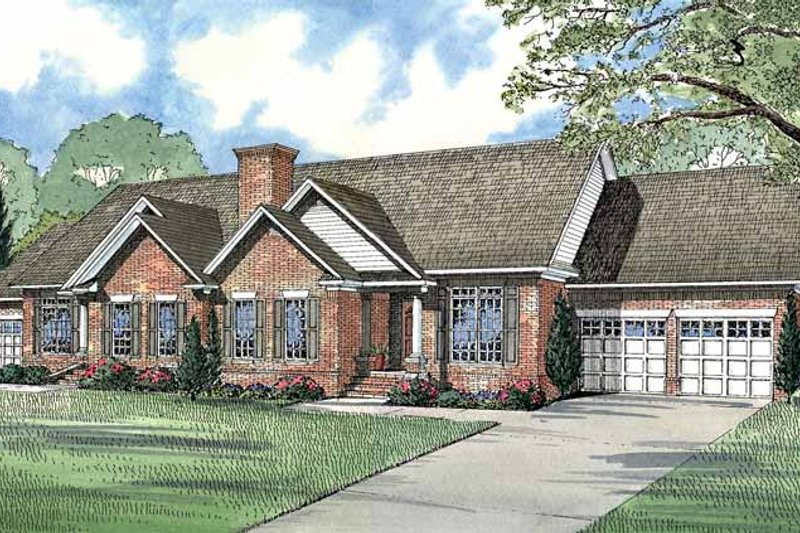 Dream House Plan - Ranch Exterior - Front Elevation Plan #17-2967
