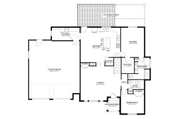 Cottage Floor Plan - Main Floor Plan Plan #1060-64