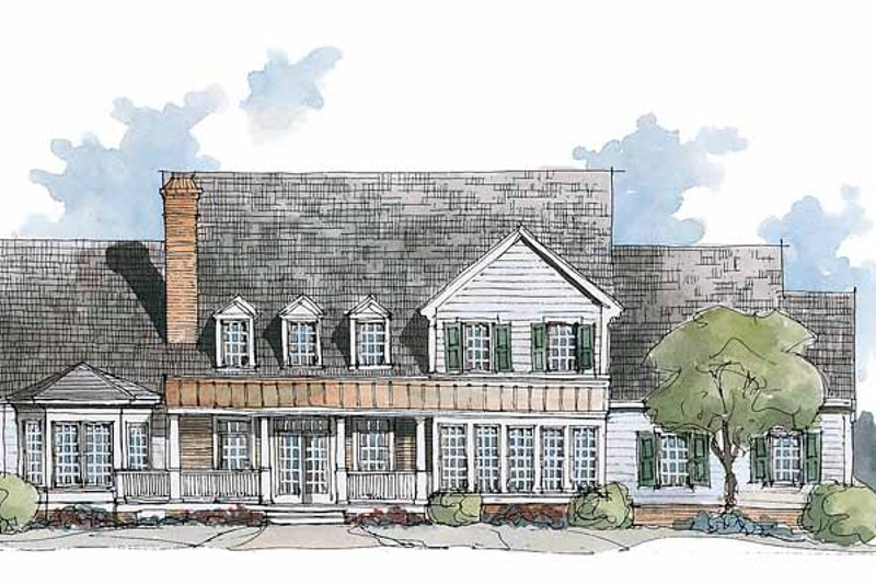 Classical Exterior - Rear Elevation Plan #429-195 - Houseplans.com