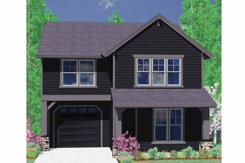 Traditional Exterior - Front Elevation Plan #509-181 - Houseplans.com