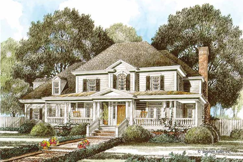Country Exterior - Front Elevation Plan #429-345