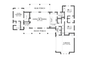 Farmhouse Style House Plan - 3 Beds 2.5 Baths 2060 Sq/Ft Plan #48-968 Floor Plan - Main Floor