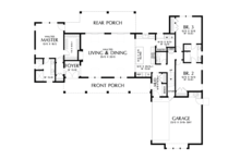 Farmhouse Floor Plan - Main Floor Plan Plan #48-968