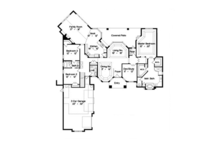 European Floor Plan - Main Floor Plan Plan #417-808