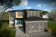 House Plan Design - Modern Exterior - Front Elevation Plan #70-1465
