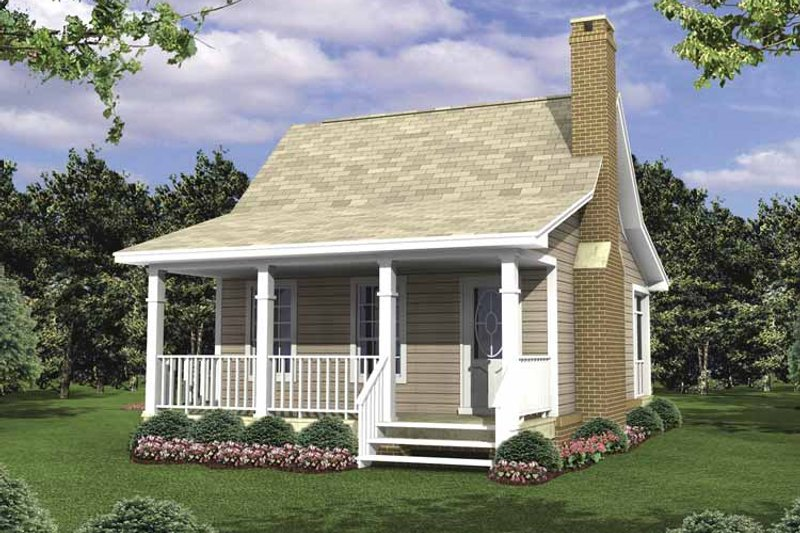 Colonial Exterior - Front Elevation Plan #21-418 - Houseplans.com