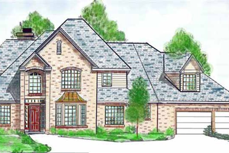 Country Exterior - Front Elevation Plan #52-246
