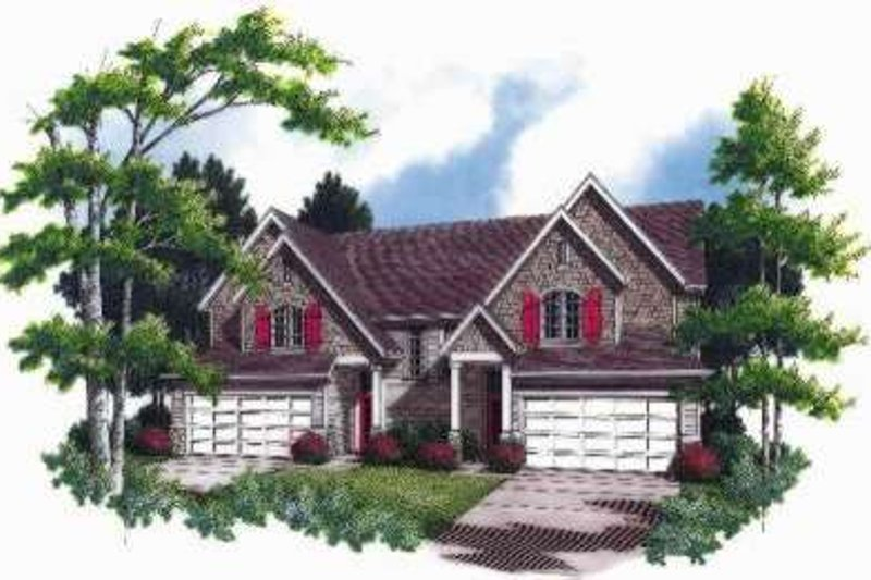 Traditional Exterior - Front Elevation Plan #48-187 - Houseplans.com