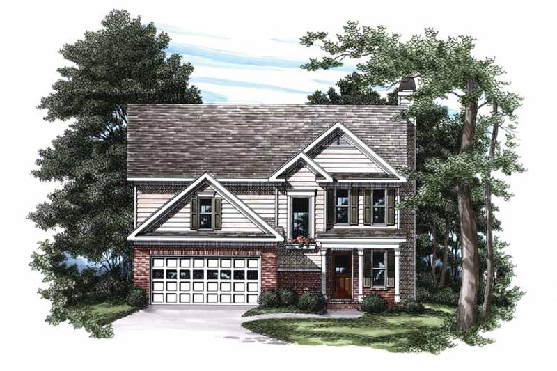 Colonial Exterior - Front Elevation Plan #927-334