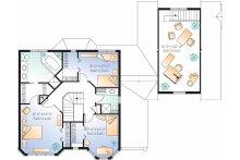 European Floor Plan - Upper Floor Plan Plan #23-2450