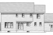 Colonial Style House Plan - 4 Beds 2.5 Baths 2089 Sq/Ft Plan #316-291 Exterior - Rear Elevation