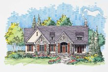 Country Exterior - Front Elevation Plan #929-569