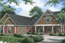 Dream House Plan - Craftsman Exterior - Front Elevation Plan #45-454