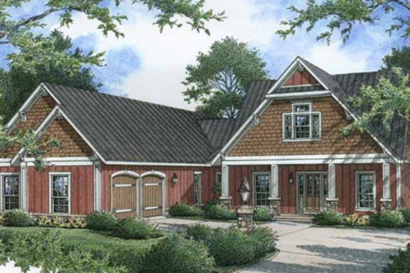 Craftsman Exterior - Front Elevation Plan #45-454