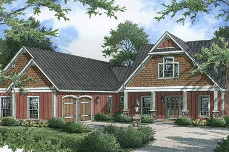 Craftsman Exterior - Front Elevation Plan #45-454